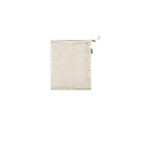 Bolsa de neta de fruta cordón cordón boca vegetal de algodón de algodón bolsa de almacenamiento de algodón puro bolso de tela de malla,Beige
