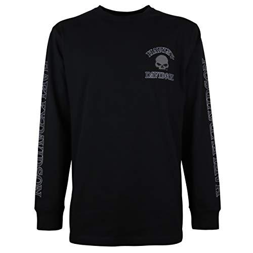 Harley Davidson Langarm-Shirt Skull Black, S