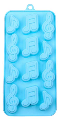 Musical Notes 12 Cavity Music Silicone Mold Baking Chocolate Candy Making Ice Cube Molds
