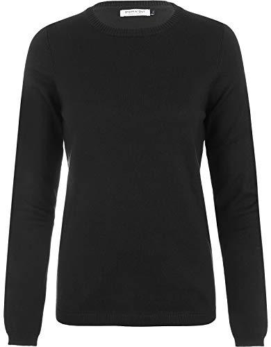 Dames > Steppin Out Dames Trui Cotton Cashmere R-hals Zwart Katoen