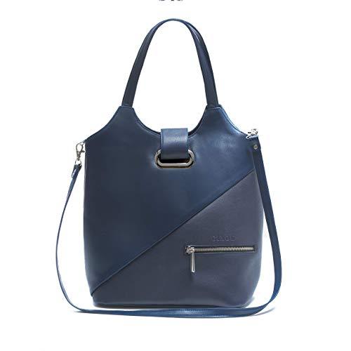 Bolso de hombro mujer marca española Ginok - De piel elegante, calidad premium - Hecho a mano 100% en España - Diseño original Ginok - Azul, Negro, Morado, Burdeos, Beige - modelo Simina: Amazon.es: Handmade