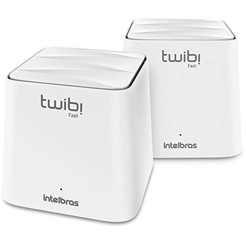 Sistema Wi-fi Mesh Intelbras Duas Unidades Twibi Fast Branco