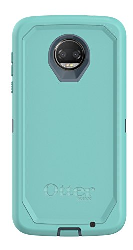 OtterBox Defender Series Case for Moto Z2 Force Edition - Retail Packaging - Borealis (Tempest Blue/Aqua Mint)
