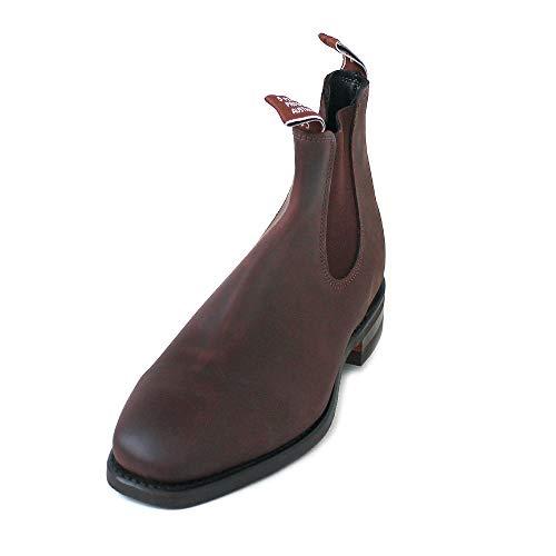 R.M. Williams Men's Distressed Comfort Craftsman Bark Chelsea Boots, Botas de Cuero Marron, Botas RM Williams, Botas de Hombre 44 EU Bark