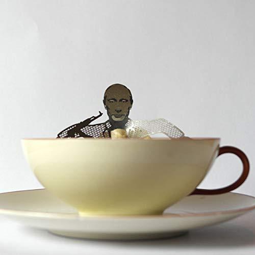 13gramm Vladimir Putin Teebeutel-Halter Souvenir Geschenk, 3D Edelstahl Figur zum Tee Trinken