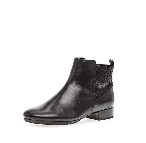 Gabor Mujer Botines, señora Ankle Boots, Botas,Botas de Media caña,Botines,botín,Tobillo Alto,Cremallera,Schwarz (Micro),40.5 EU / 7 UK