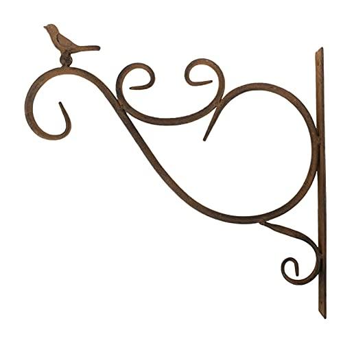 Wandbehang Pflanzenhalterung Zuhause Dekor Retro Vogelfütterer Aufhänger,Aus strapazierfähigem/langlebigem Metalleisenmaterial, zum Aufhängen verschiedener Blumen, Pflanzen, Windspiele, Laternen