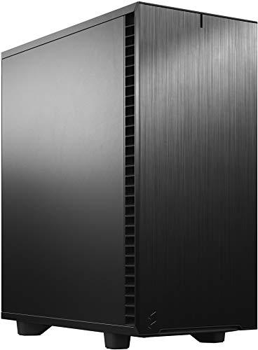 Fractal Design Define 7 Compact Black, kompaktes ATX PC Gehäuse aus Aluminium / Stahl, gedämmt für Silent Computing - schwarz