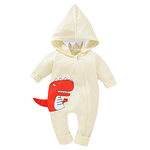 Babybekleidung Kleinkind Kind Baby Junge Outfits Kleidung Karikatur-Druck T-Shirt Tops Shorts Pants Hosen Cartoon Dinosaurier Streifen Stück Bekleidungssets Babyanzug (Alter: 6-12 Monate, Gelb)