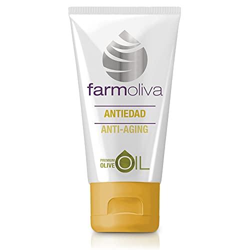 Farmoliva Belleza - Crema Antiarrugas - 50 ml - Elaborada con Aceite de Oliva Premium - Crema Hidratante Facial - Con Antioxidantes y Vitaminas A, E y K - Cosmética Natural - Fabricada en España