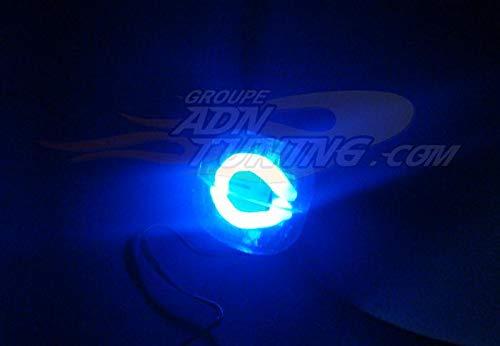 Pommeau de levier de vitesse avec neon - Bleu - NA70 - 12V - 666-CaL ADNAuto