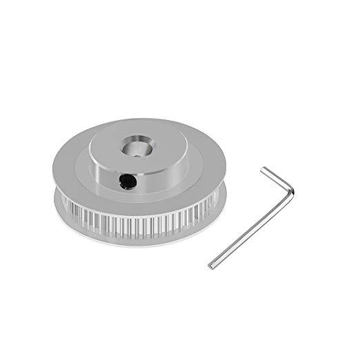 Aibecy Polea dentada de aluminio GT2 60 dientes 60T 8 mm de diámetro rueda sincrónica para 6 mm de ancho Impresora 3D GT2 Correa dentada