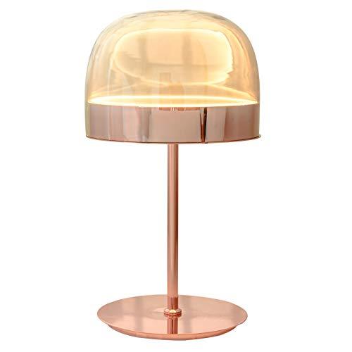 WEUN LáMpara De Mesita De Noche Minimalista, LáMpara De Mesa De Oro Rosa Creativa Moderna, Adecuada para Dormitorio, Sala De Estar, Hotel,Rose Gold,B