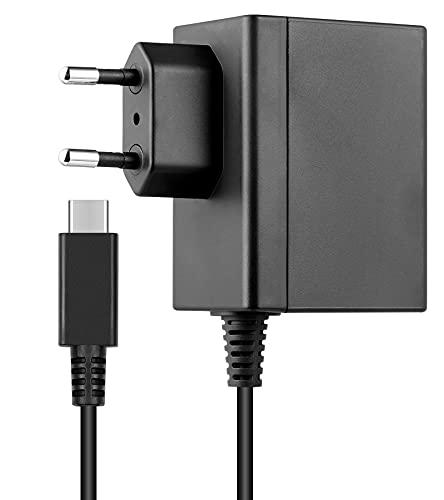 Cargador para NS Switch/Switch Lite/Switch OLED, Adaptador de CA Type-C de Carga...
