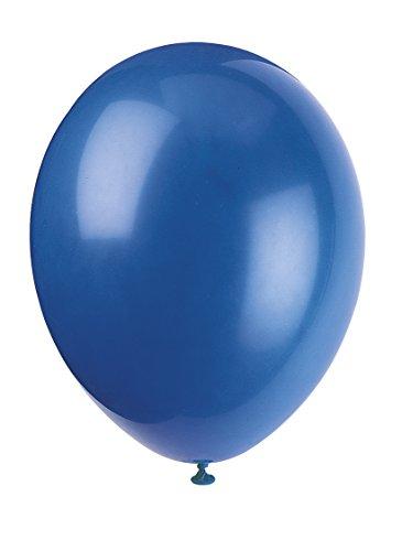 Unique Party 56857 - Palloncini in Lattice Blu da 30cm, Confezione da 50