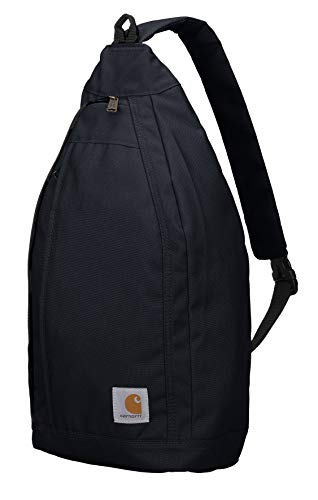 Carhartt Mono Sling Backpack, Unisex Crossbody Bag for Travel and Hiking, Black