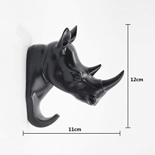 Nieuw geproduceerd hert Rhino olifant giraf paard dier decoratieve haak creatief hars model badkamer muur haak jas muur haak haak