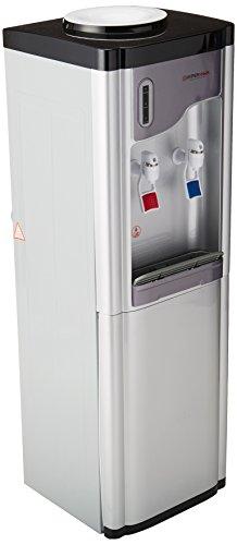 Hypermark Dispensador de Agua Clearwater, 2 Llaves, Gabinete de Almacenamiento, Plata/Gris,