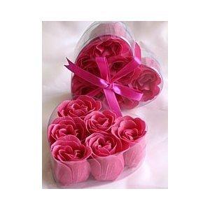 Fuchsia Rose Petal Soaps - 2 BOXES (6 rose soaps per box)