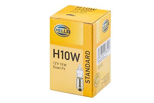 HELLA 8GH 002 473-191 Ampoule - H10W - Standard - 12V - 10W - Type de culot: BA9s - Boîte - Quantité: 10