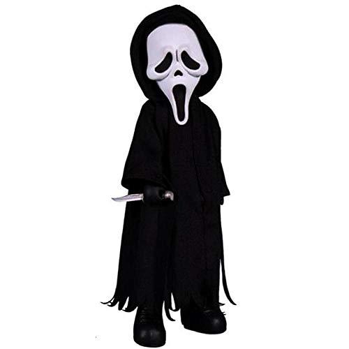 Mezco Living Dead 696198996142 Scream - Muñeca de Scream (tamaño estándar), Color Negro