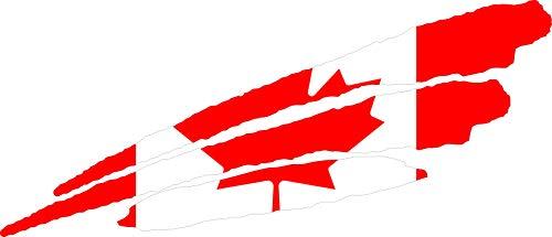 INDIGOS UG - Pegatina - para Coche - JDM - Die Cut - Coche - Bandera Canadá - Canadá - 3 Rayas - 800x200 mm - Ventana Trasera - para Ventana Trasera Barco Coche Tuning camión