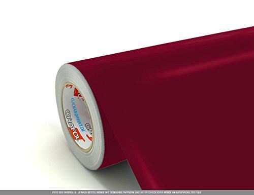 CLICKANDPRINT 4m Klebefolie, 63cm breit, Dunkelrot ST » PVC-Folie/Vinyl-Folie/Kunststoffolie