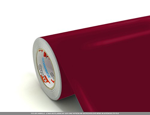 CLICKANDPRINT 4m Klebefolie, 63cm breit, Dunkelrot ST » Schrankaufkleber/Spindaufkleber/Kleiderschrankaufkleber/Schranktüraufkleber/Küchenschrankaufkleber/Esszimmerschrankaufkleber/Unter.