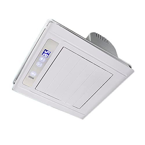 Ventilador extractor Ventilador de ventilación de control remoto inteligente 30 × 30 cm Ventilador de escape integrado con apagado del temporizador y función de configuración de 2 velocidades Ventilad