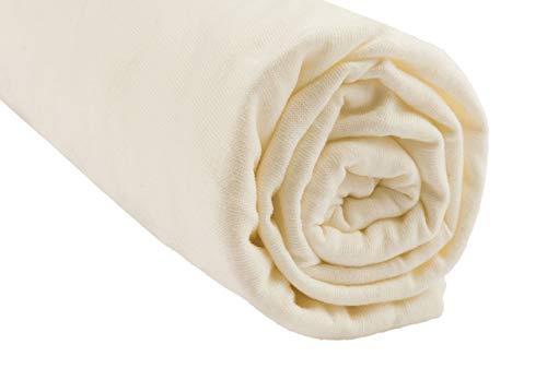 Easy Dort - Lenzuolo con angoli, 100% cotone, motivo: agricoltura biologica, 90 x 190/200 cm, colore: Ecru, colore: Ecru, colore: Ecru