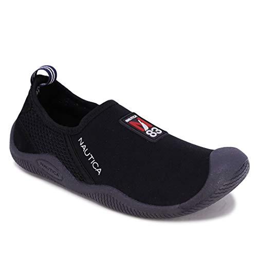 Nautica Kids Youth Athletic Water Shoes Aqua Socks Slip-on Sandals-Marcc-Black-3