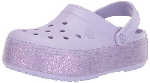 crocs Unisex-Kinder Crocband Platform Gs K Clogs, Violett (Lavender/Lavender Sp), 34 EU