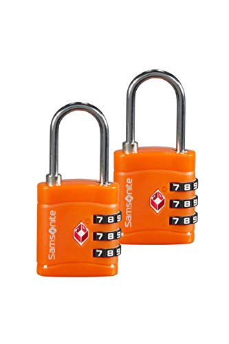 Samsonite Global Travel Accessories - 3-Stelliges TSA Zahlenschloss (2x), 7 cm, Orange