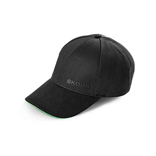 Skoda 000084300AM Baseballcap Basecap Mütze Cap Baumwolle Kappe Logo, schwarz