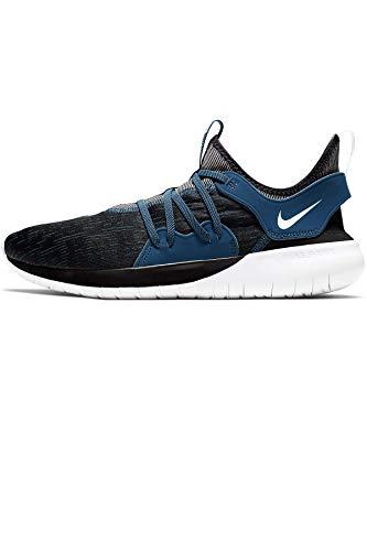 Nike Men's Flex RN 2019 Running Shoe (9.5 M US, Black/White-Blue Force)