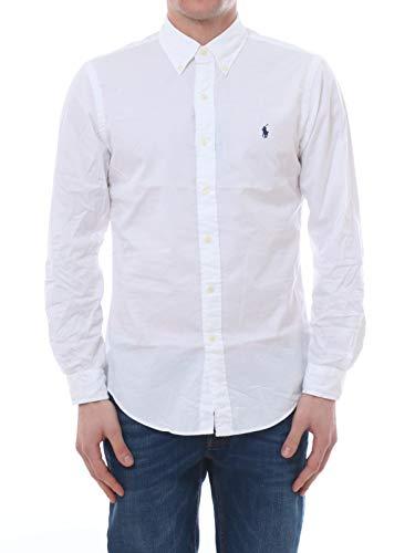 Polo Ralph Lauren Mod. 710792044 Camisa Popelín Stretch Custom Fit Hombre Blanco XXL