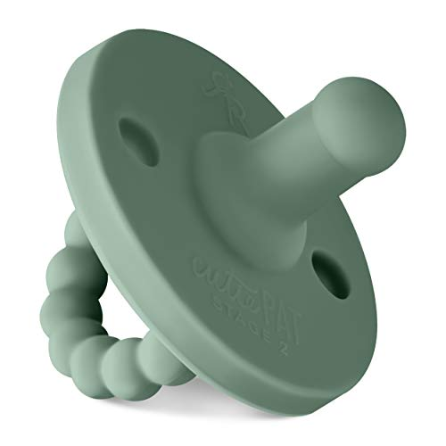 Ryan & Rose Cutie PAT Pacifier Teether (Moss, Stage 2)