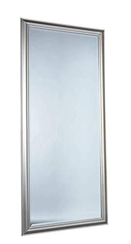 LC Home Wandspiegel Spiegel Flurspiegel 175 x 75 cm Silber Schlichter Landhaus-Stil mit Facettenschliff