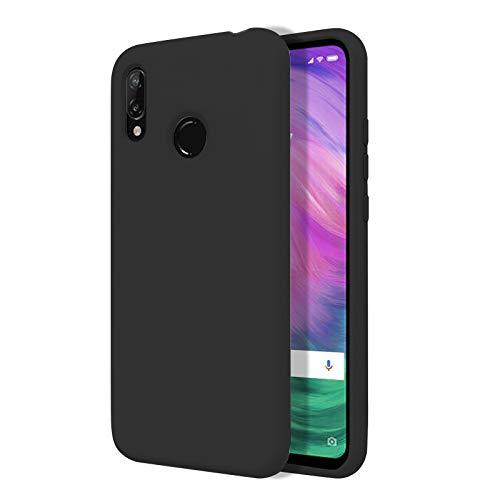 TBOC Funda para Xiaomi Redmi S2 [5.99 Pulgadas]- Carcasa Rígida [Negra] Silicona Líquida Premium [Tacto Suave] Forro Interior Microfibra [Protege la Cámara] Antideslizante Resistente Suciedad