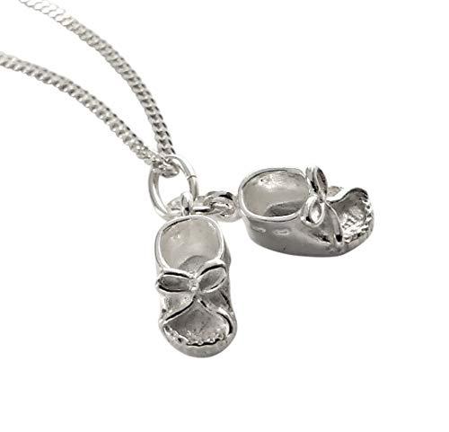 Botki dziecięce wisiorek z łańcuszkiem o splocie krawężnika 45 cm srebro 925
