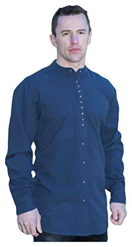 Stehkragenhemd - Irisches Stehkragenhemd - EW 13 Navy (XL)
