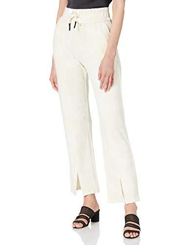 Desigual Pant Pintuck Camo Pantalones Informales, Blanco, M para Mujer