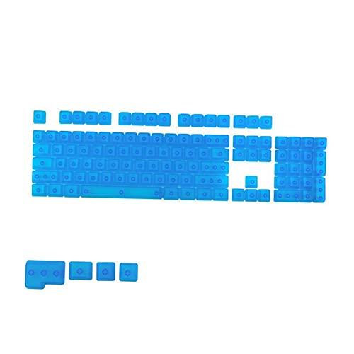 Homyl 104キーDIY透明キーキャップメカニカルキーボードPCゲーミングキーボードマシナリーカラークリアキーキャップセットCHERRYMX /クローンスイッチゲーミングキーボード用 - 完全に透明