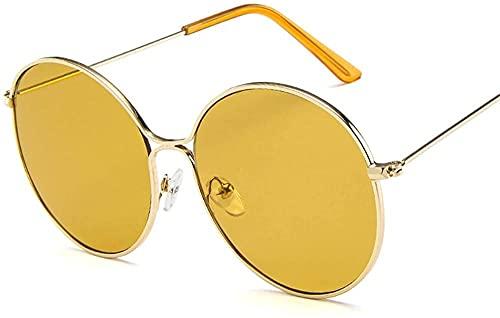 Gafas de sol de aleación gran marco redondo gafas de sol señoras retro gradiente lente gafas de sol hombres s viaje gafas de sol