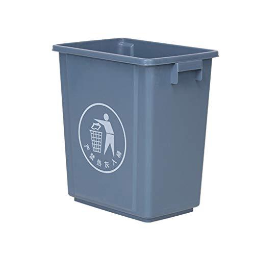 Kjzhu Basura reciclaje Las latas de basura del restaurante, estrecho de plástico sin la tapa del bote de basura Departamento Cocina Salón Salón de Ventas bote de basura organización Cubos de basura