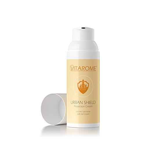 Vitarome - Crema protectora para el sol y la contaminación URBAN SHIELD con extracto de papaya, ácido hialurónico y resveratrol, sin parabenos, 50 ml