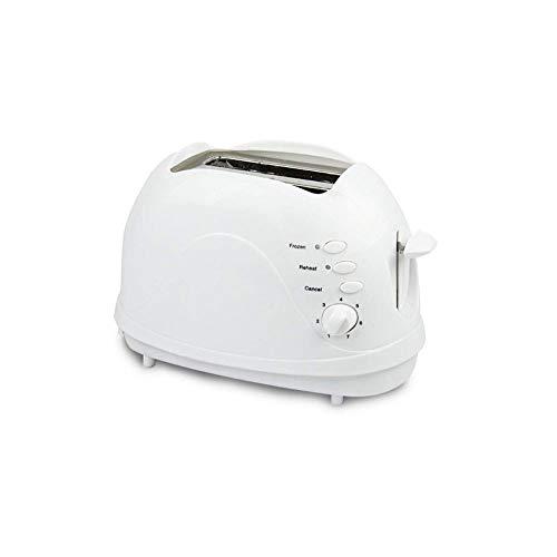SMGLJJ 2 Scheiben Toaster Breitschlitz-Toaster mit Aufwärm- Abtaufunktionen Auto Shut-Off