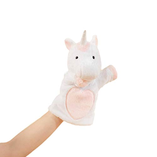 SimpliCute Winged Unicorn Plush Toy Hand Puppet with Movable Arms - Hand Puppets for Kids All Ages