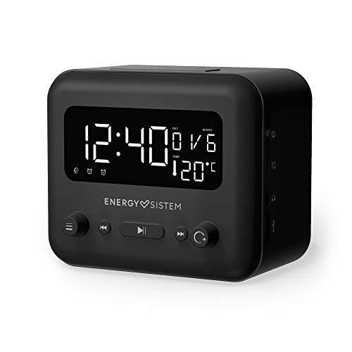 Energy Sistem Clock Speaker 2 Altavoz Reloj Bluetooth (Dual Alarm, 5 W, FM Radio, Bluetooth 5.0, Aux-out) Gris