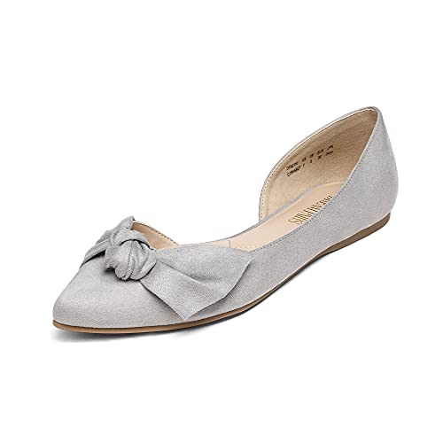 Top 10 best selling list for flat pointed shoes grey